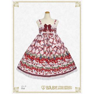 ベイビーザスターズシャインブライト(BABY,THE STARS SHINE BRIGHT)のStrawberry Garden ジャンパースカート(ひざ丈ワンピース)