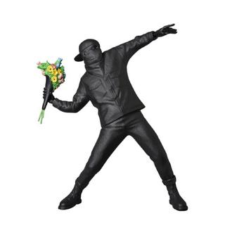 メディコムトイ(MEDICOM TOY)の新品 BANKSY FLOWER BOMBER BLACK GESSO Ver(彫刻/オブジェ)