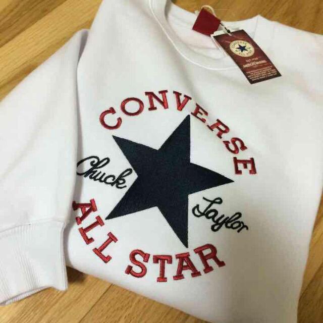 CONVERSE(コンバース)のM 女性人気‼️スウェット ホワイト メンズのトップス(スウェット)の商品写真
