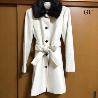 ジーユー(GU)のGU ロングコート ホワイト(ロングコート)