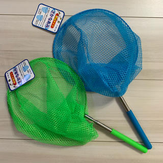 さかな網 むし網 2本セット 伸縮タイプ 魚とり 虫取り 網 カブトムシ 魚(釣り糸/ライン)