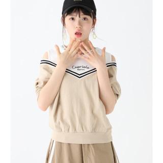 repipi armario - 新品未使用!エリロゴシェブロンカタアキTシャツ サイズS 150 ベージュ