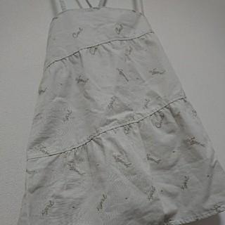 エックスガール(X-girl)のx-girl エックスガール 吊り スカート 2 ジャンパースカート(ミニスカート)