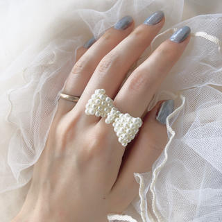 pearl ring(ribbon)(リング)