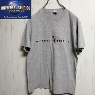 ユニバーサルスタジオジャパン(USJ)のウッドペッカー 刺繍ロゴ TシャツUNIVERSAL STUDIOS (Tシャツ/カットソー(半袖/袖なし))