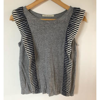 ルカ(LUCA)のチュール付きボーダー(Tシャツ(半袖/袖なし))