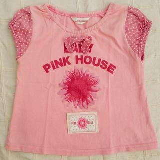 PINK HOUSE - 80 BABY PINK HOUSE 花柄プリント 半袖Tシャツ