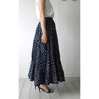 ノーブル(Noble)のmariha 草原の虹のスカート ネイビー(ロングスカート)