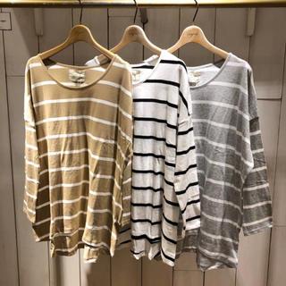 アングリッド(Ungrid)の【新品】カラーボーダーロングスリーブtee(Tシャツ(長袖/七分))