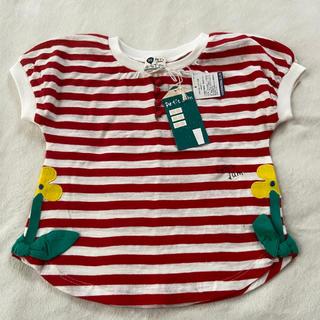 プチジャム(Petit jam)の新品タグ付き プチジャム  95センチ トップス Tシャツ ボーダー 赤(Tシャツ/カットソー)