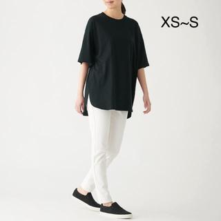 ムジルシリョウヒン(MUJI (無印良品))の無印良品 インド綿天竺編みチュニック 婦人XS~S・黒(チュニック)