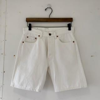 Levi's - USA製 リーバイス 501 ホワイト デニム ショート パンツ W29 90s