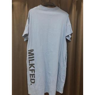 ミルクフェド(MILKFED.)のMILKFED. Tシャツワンピース ほぼ新品(Tシャツ(半袖/袖なし))