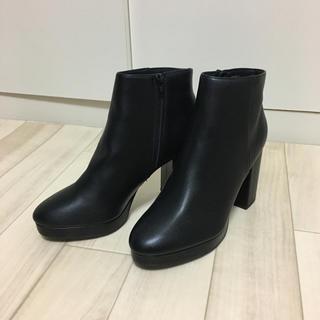 asos - ヒールブーツ  厚底 メンズ 黒 uk8 asos 厚底ブーツ