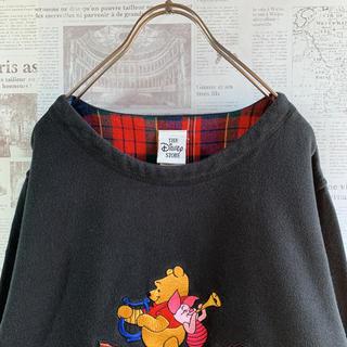 ディズニー(Disney)の【希少】90s Disney プーさん スウェット 刺繍 レトロ 古着女子(スウェット)