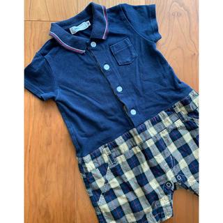 SHIPS - ★シップス ポロシャツとチェック柄パンツ風ロンパース ★