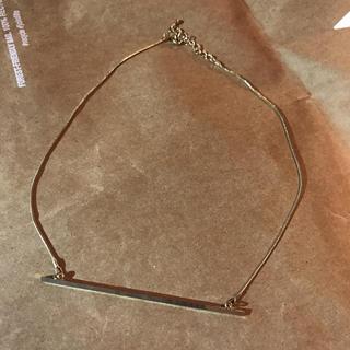 ケービーエフ(KBF)の未使用 KBFバー ネックレス ゴールドカラー(ネックレス)