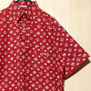 エビス(EVISU)の90's EVISU エビス エヴィス 半袖シャツ 戒 モノグラム 総柄(シャツ)