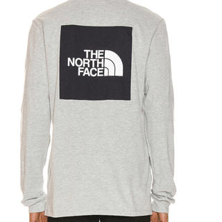 THE NORTH FACE - 新品M north face red box logo ls tee ロンt