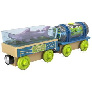 フィッシャープライス(Fisher-Price)のトーマス 木製 アクアリウムカー 汽車 電車(電車のおもちゃ/車)
