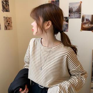 フーズフーチコ(who's who Chico)のボーダーTシャツ(Tシャツ/カットソー(七分/長袖))