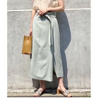 ノーブル(Noble)の新品★オーバータックフロントスリットスカート(ロングスカート)