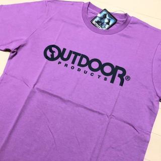アウトドアプロダクツ(OUTDOOR PRODUCTS)の新品 紫 L OUTDOOR PRODUCTS アウトドアプロダクツ Tシャツ(Tシャツ/カットソー(半袖/袖なし))