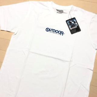 アウトドアプロダクツ(OUTDOOR PRODUCTS)の新品 白 L アウトドアプロダクツ ミニロゴ プリント Tシャツ(Tシャツ/カットソー(半袖/袖なし))
