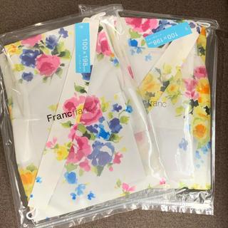 フランフラン(Francfranc)の週末限定値下!Francfranc 花柄レースカーテン 100×198cm(レースカーテン)