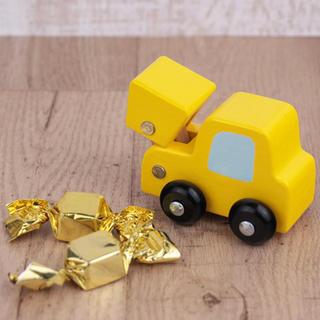 カルディ(KALDI)のカルディ 木のおもちゃ ショベルカー(知育玩具)