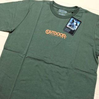 アウトドアプロダクツ(OUTDOOR PRODUCTS)の新品 カーキ XL アウトドアプロダクツ ミニロゴ プリント Tシャツ(Tシャツ/カットソー(半袖/袖なし))