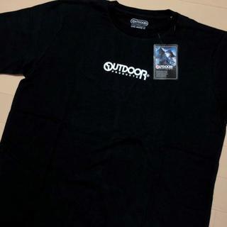 アウトドアプロダクツ(OUTDOOR PRODUCTS)の新品 黒 XL アウトドアプロダクツ ミニロゴ プリント Tシャツ(Tシャツ/カットソー(半袖/袖なし))