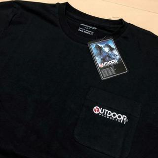 アウトドアプロダクツ(OUTDOOR PRODUCTS)の新品 黒 M アウトドアプロダクツ 刺繍 ポケット Tシャツ(Tシャツ/カットソー(半袖/袖なし))