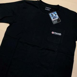 アウトドアプロダクツ(OUTDOOR PRODUCTS)の新品 黒 XL アウトドアプロダクツ 刺繍 ポケット Tシャツ(Tシャツ/カットソー(半袖/袖なし))