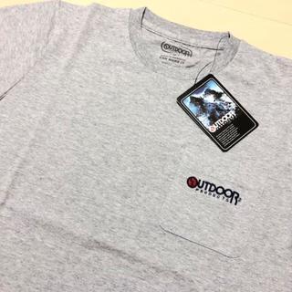 アウトドアプロダクツ(OUTDOOR PRODUCTS)の新品 グレー M アウトドアプロダクツ 刺繍 ポケット Tシャツ(Tシャツ/カットソー(半袖/袖なし))