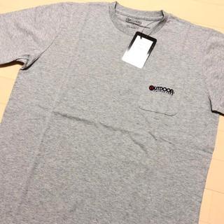 アウトドアプロダクツ(OUTDOOR PRODUCTS)の新品 グレー XL アウトドアプロダクツ 刺繍 ポケット Tシャツ(Tシャツ/カットソー(半袖/袖なし))