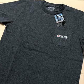 アウトドアプロダクツ(OUTDOOR PRODUCTS)の新品 チャコール XL アウトドアプロダクツ 刺繍 ポケット Tシャツ(Tシャツ/カットソー(半袖/袖なし))