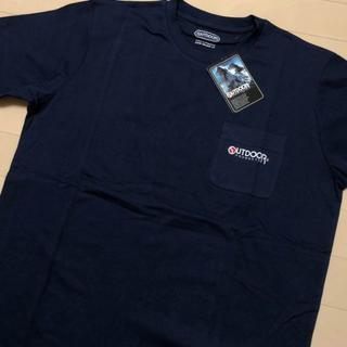 アウトドアプロダクツ(OUTDOOR PRODUCTS)の新品 ネイビー XL アウトドアプロダクツ 刺繍 ポケット Tシャツ(Tシャツ/カットソー(半袖/袖なし))