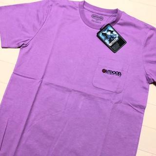 アウトドアプロダクツ(OUTDOOR PRODUCTS)の新品 パープル M アウトドアプロダクツ 刺繍 ポケット Tシャツ(Tシャツ/カットソー(半袖/袖なし))