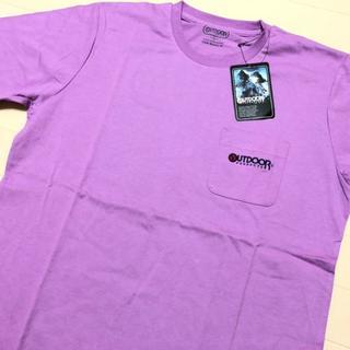 アウトドアプロダクツ(OUTDOOR PRODUCTS)の新品 パープル XL アウトドアプロダクツ 刺繍 ポケット Tシャツ(Tシャツ/カットソー(半袖/袖なし))