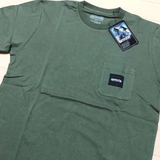 アウトドアプロダクツ(OUTDOOR PRODUCTS)の新品 カーキ L アウトドアプロダクツ ロゴタグ ポケット Tシャツ(Tシャツ/カットソー(半袖/袖なし))