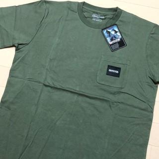 アウトドアプロダクツ(OUTDOOR PRODUCTS)の新品 カーキ XL アウトドアプロダクツ ロゴタグ ポケット Tシャツ(Tシャツ/カットソー(半袖/袖なし))
