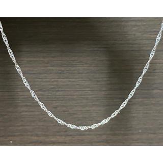 アヴァランチ(AVALANCHE)のK18 ホワイトゴールド スクリューチェーン ネックレス ユニセックス 幅2㎜(ネックレス)