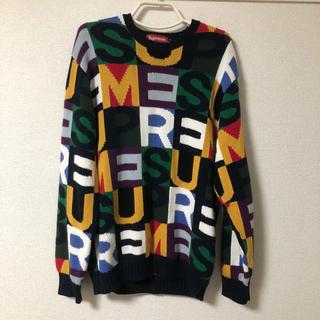 Supreme - 18FW Supreme Big Letters Sweater