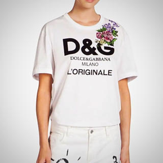 ドルチェアンドガッバーナ(DOLCE&GABBANA)の♡ドルガバ♡ 超レア刺繍Tシャツ!新品!正規品!1点限り。(Tシャツ(半袖/袖なし))