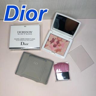 クリスチャンディオール(Christian Dior)のDior ディオール スノー ブラッシュ&ブルーム パウダー 002(フェイスパウダー)