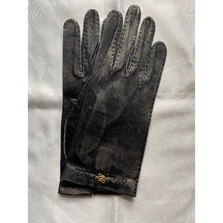 ロエベ(LOEWE)の未使用 ロエベ LOEWE  レディース 黒革手袋 レザーグローブ 裏地無し(手袋)