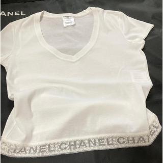 シャネル(CHANEL)のシャネル❤レースロゴ Tシャツ カットソー (カットソー(半袖/袖なし))
