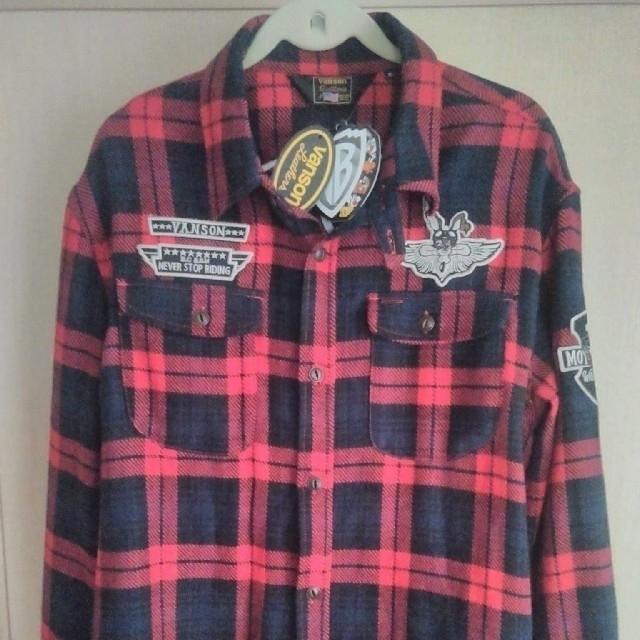 VANSON(バンソン)のVANSON バンソン ルーニー・テューンズ ワイリーコヨーテ ネルシャツ メンズのジャケット/アウター(ライダースジャケット)の商品写真