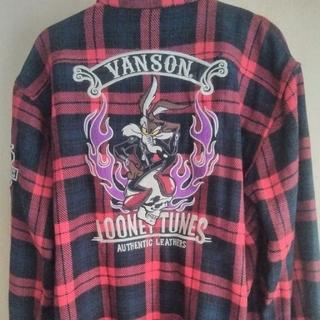 バンソン(VANSON)のVANSON バンソン ルーニー・テューンズ ワイリーコヨーテ ネルシャツ(ライダースジャケット)